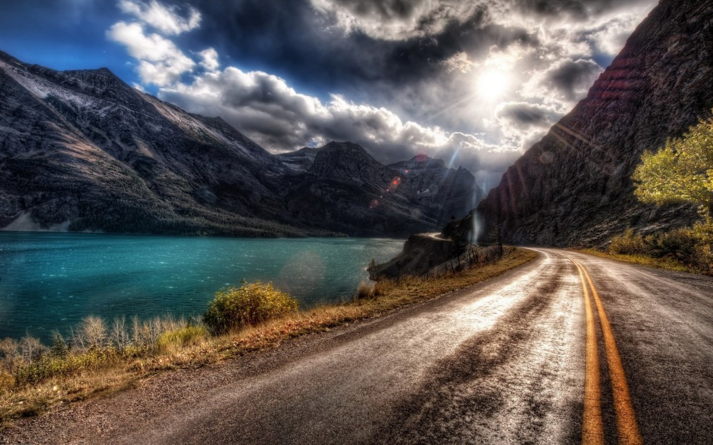 mountain road hd wallpapers