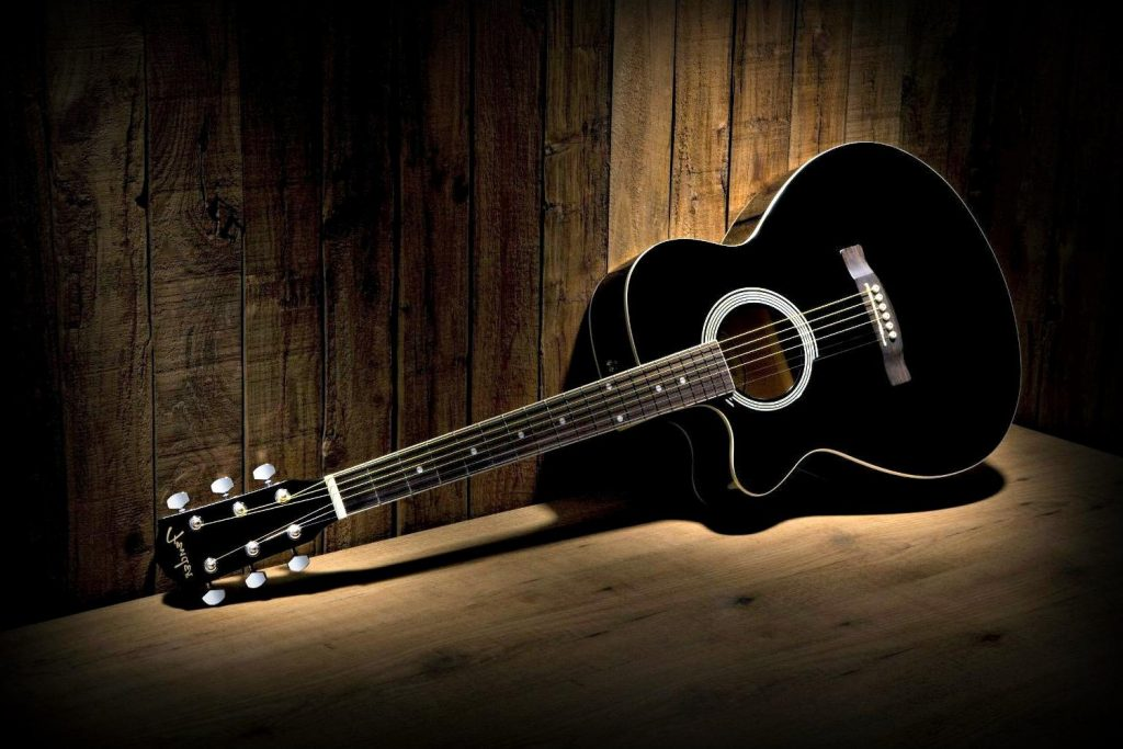 black guitar photos wallpapers