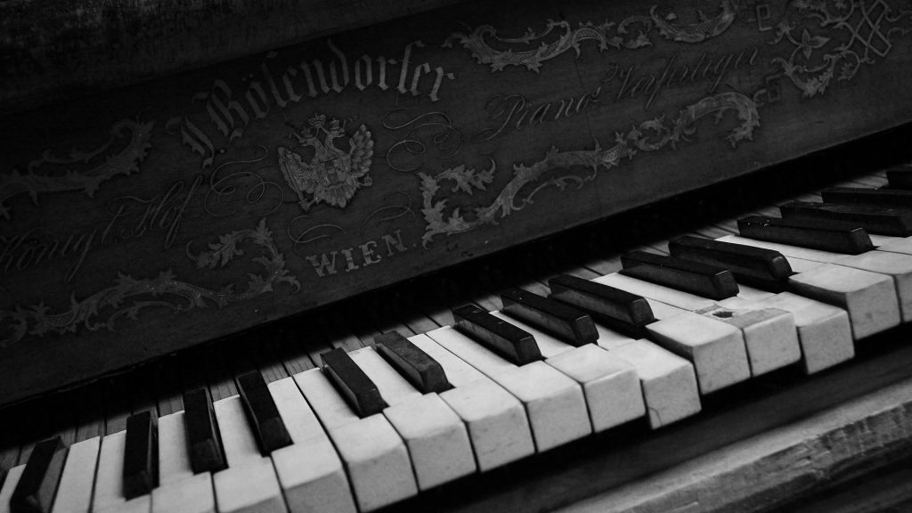 monochrome piano wallpapers