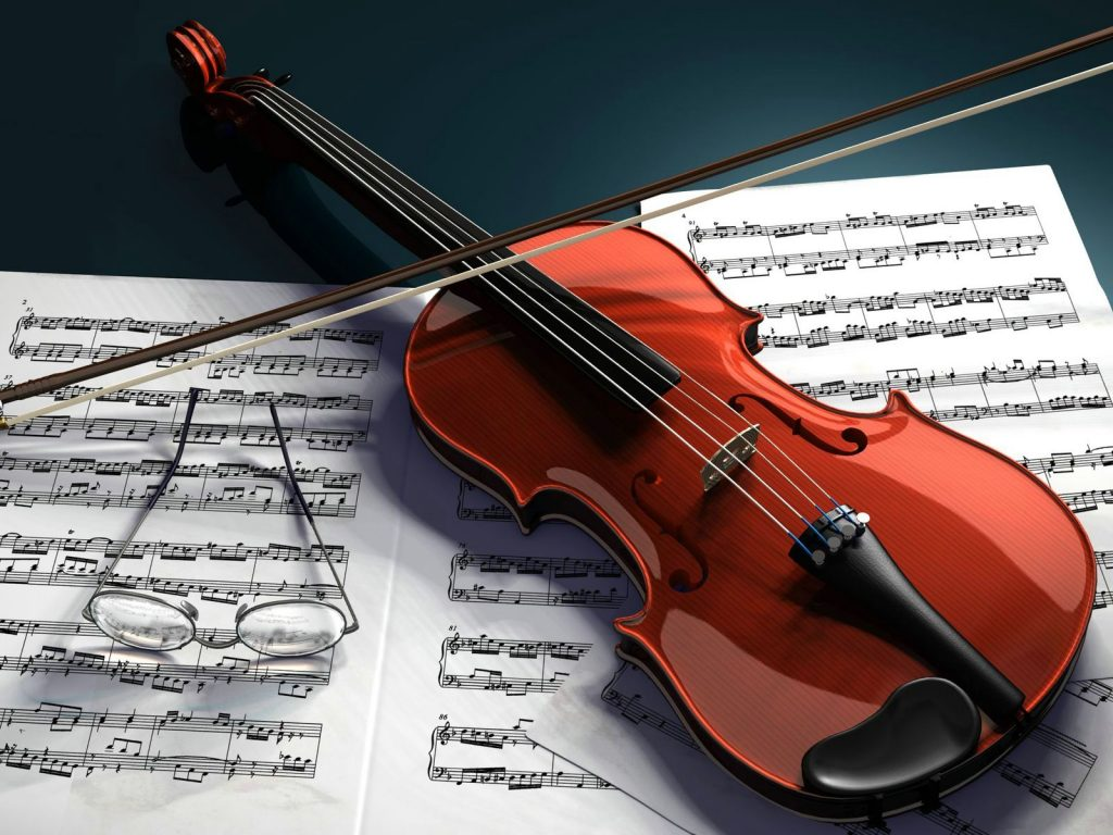 3d-violin computer wallpapers