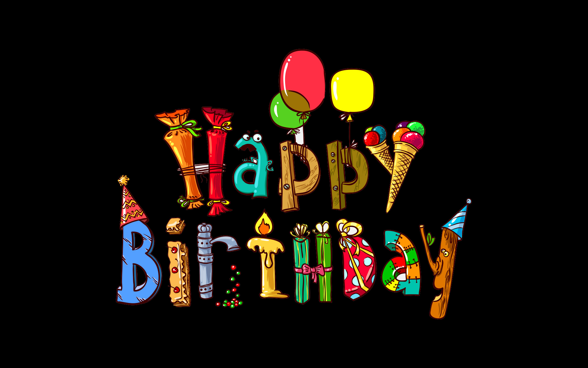 25 lovely hd happy birthday wallpapers - Happy birthday card wallpaper ...