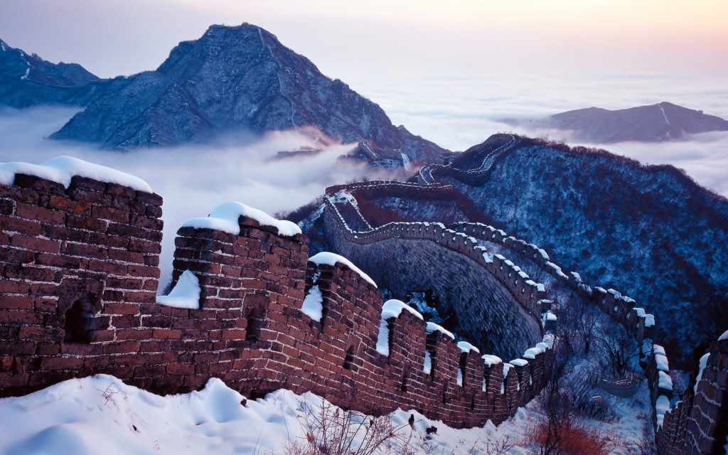 Snow on the Great Wall, Beijing, China