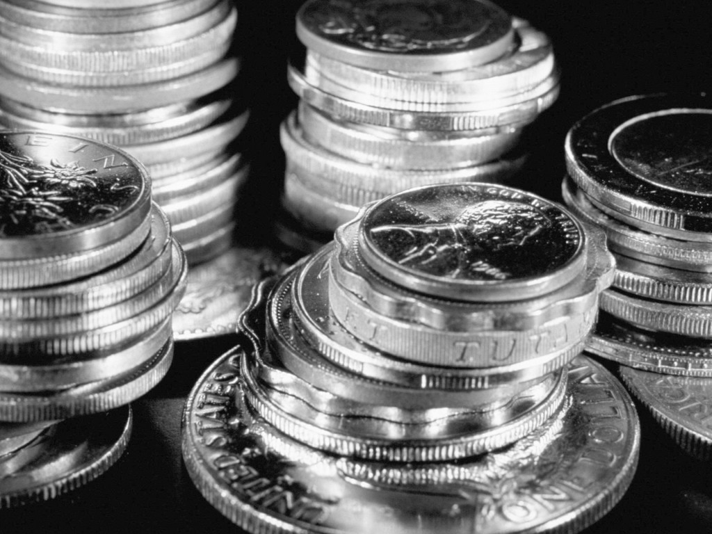 silver coins computer wallpapers