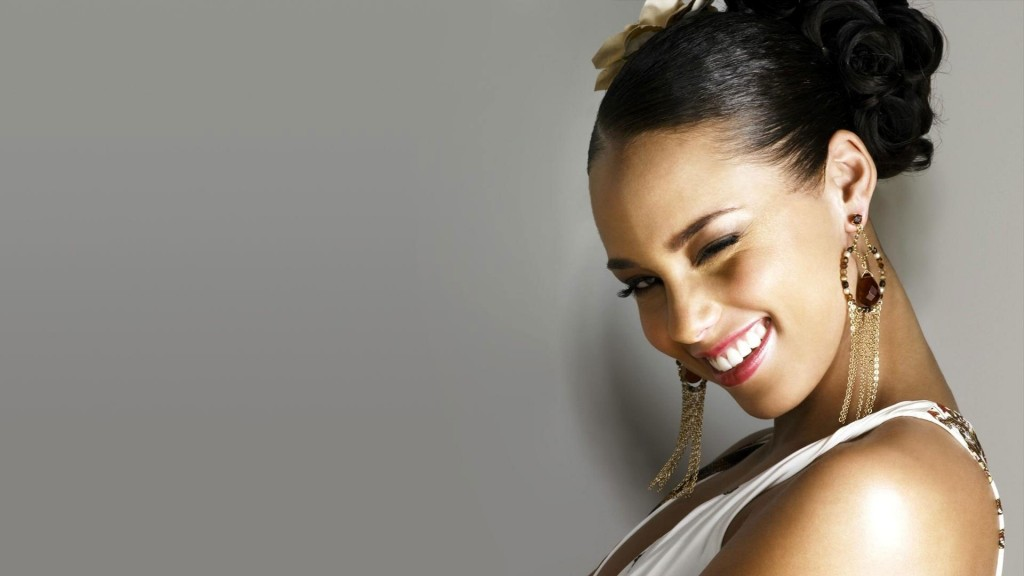 alicia keys smile wallpapers