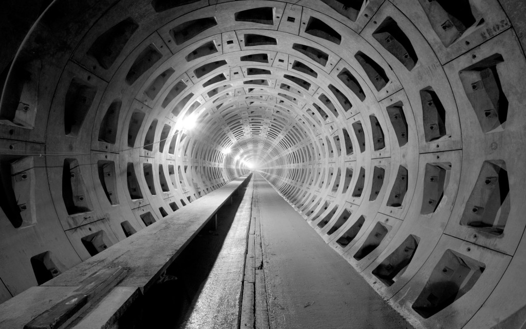 concrete tunnel desktop wallpapers