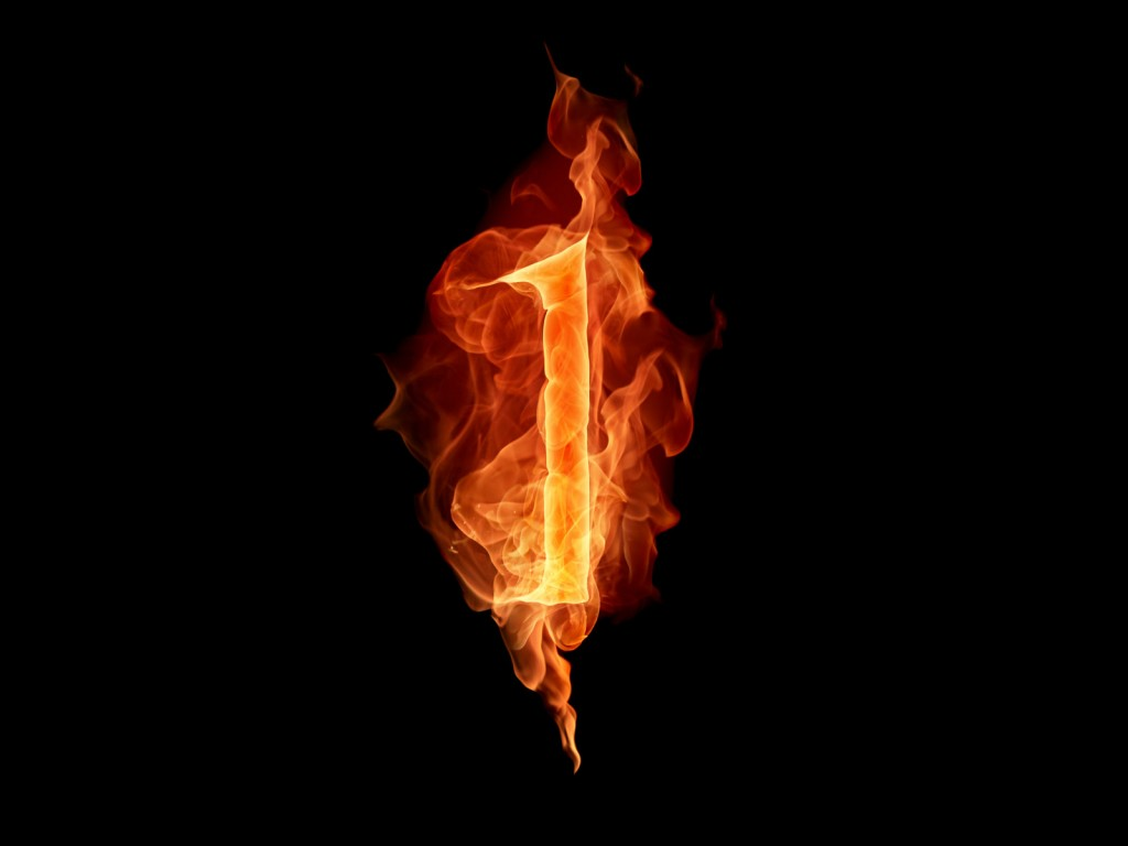 fiery numbers computer wallpapers