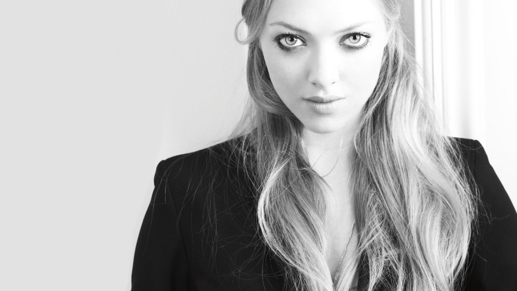 monochrome amanda seyfried wallpapers