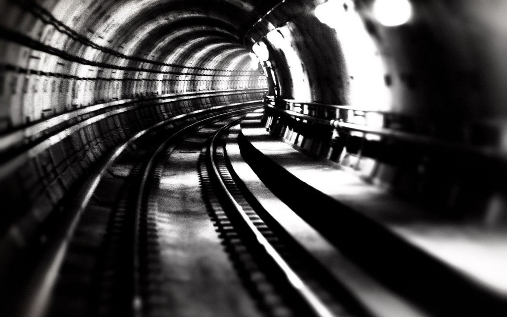 monochrome tunnel wallpapers