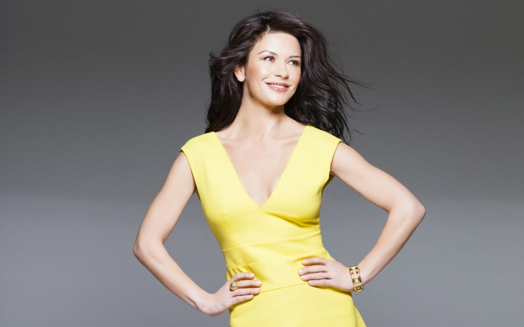 catherine zeta jones yellow dress wallpapers