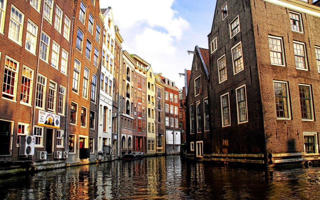 city canal widescreen wallpapers