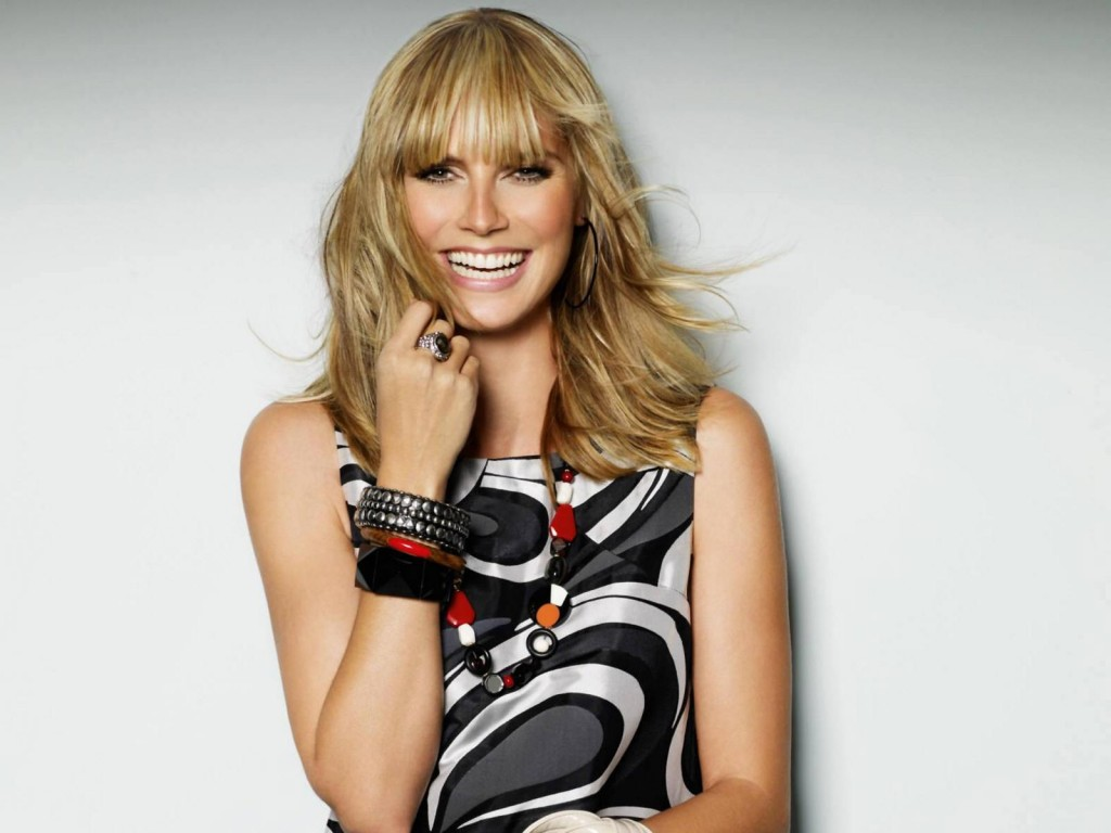 happy heidi klum computer wallpapers