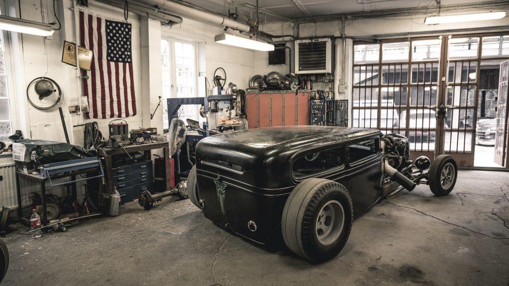 hot rod garage wallpapers