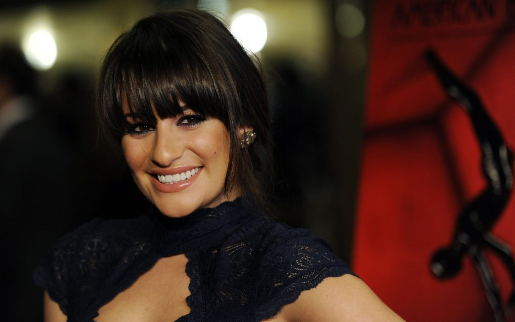 lea michele smile widescreen wallpapers