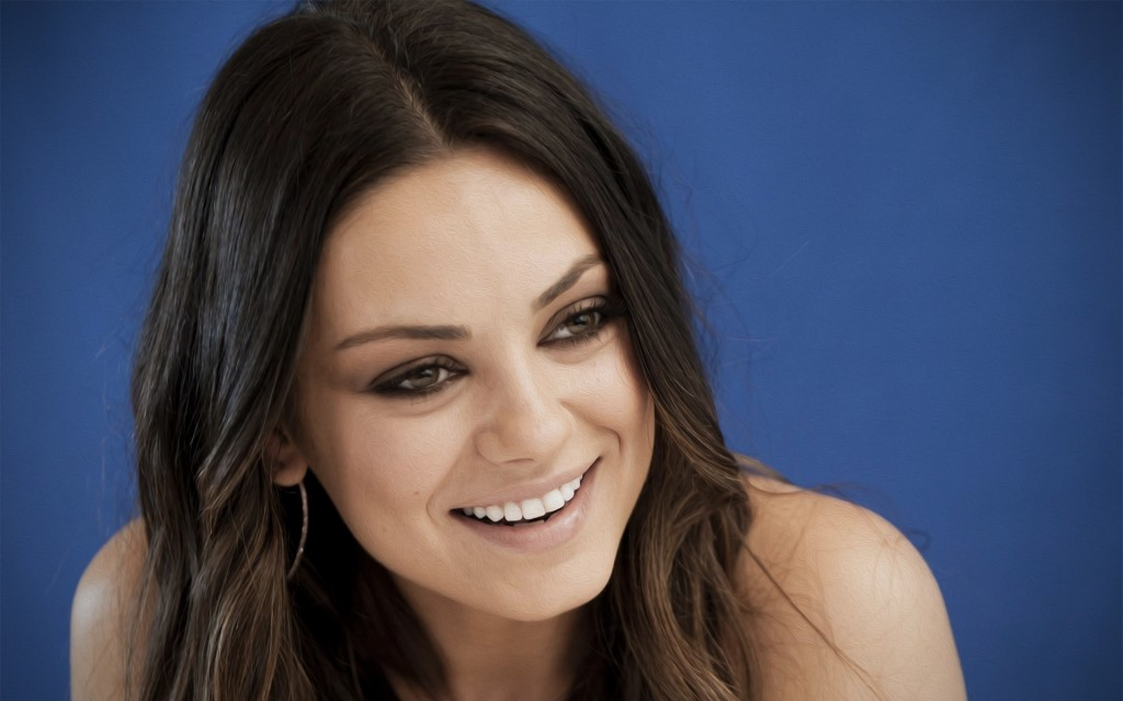 mila kunis smile wallpapers