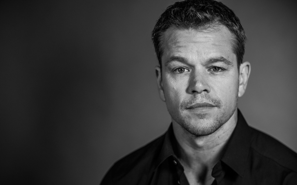 monochrome matt damon widescreen wallpapers