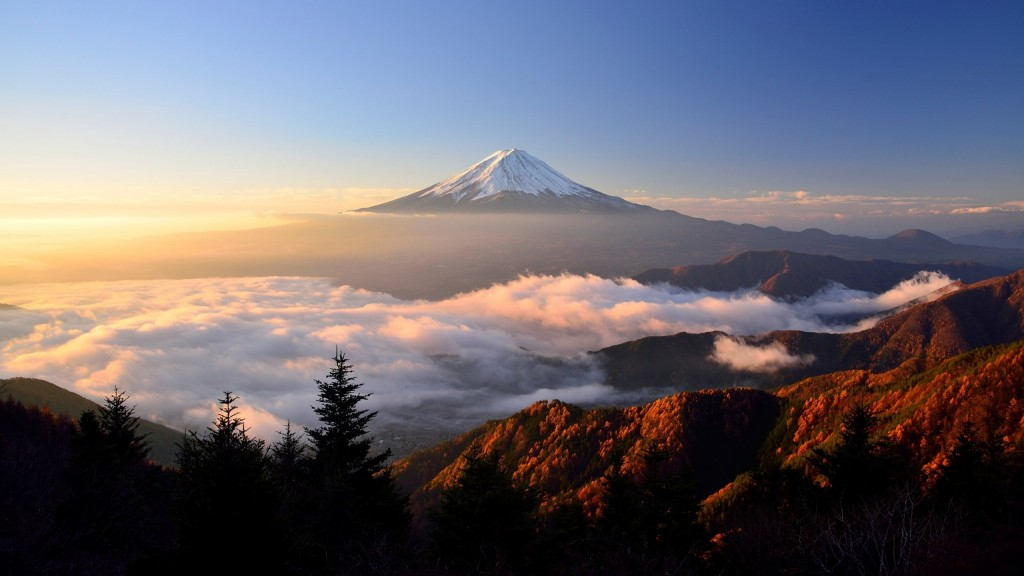 mt fuji widescreen wallpapers