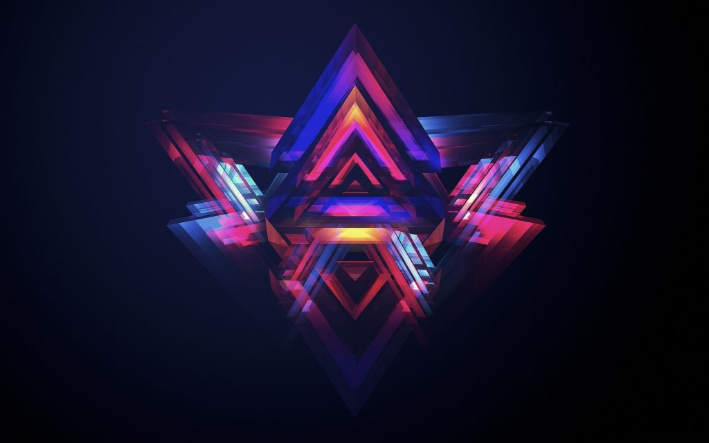 neon pyramids wallpapers