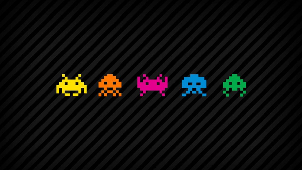 space invaders wide wallpapers