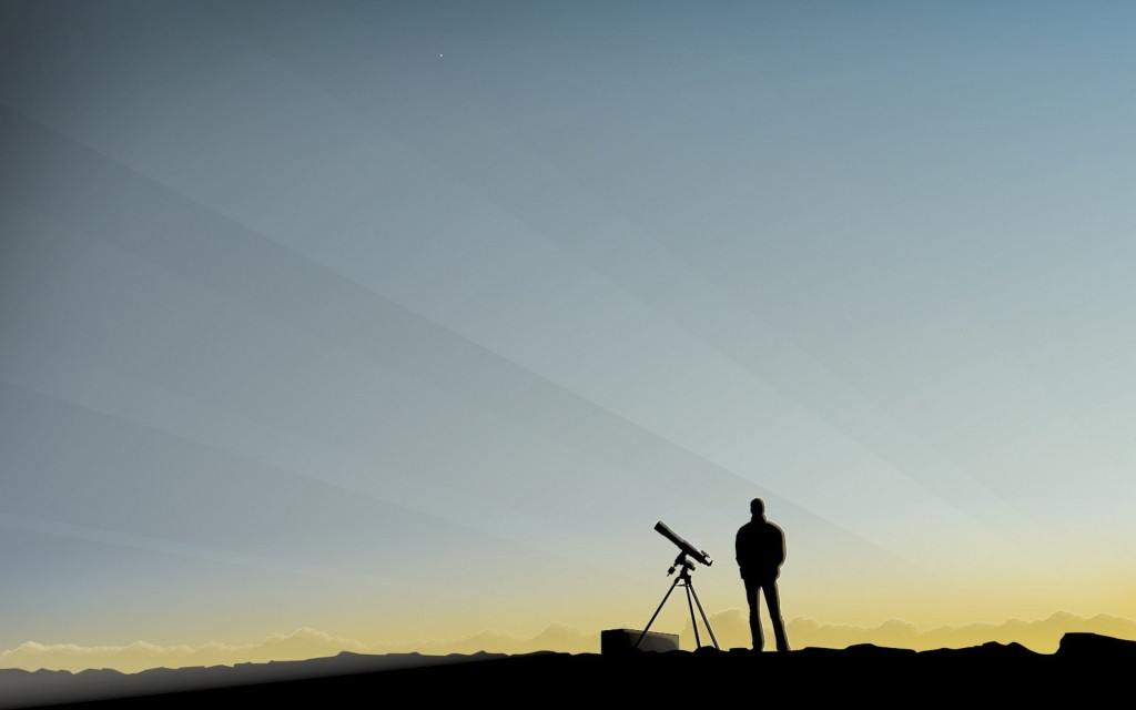 telescope man art wallpapers