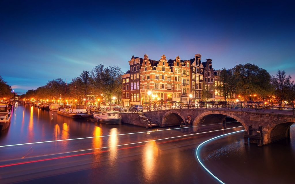 amsterdam city night wallpapers