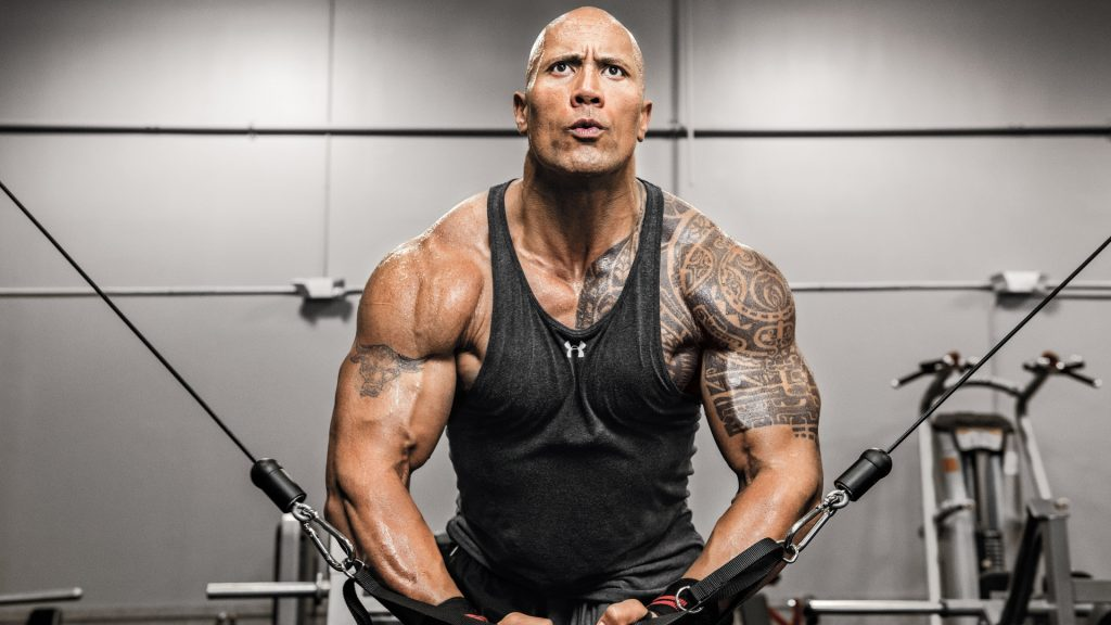 dwayne johnson workout wallpapers