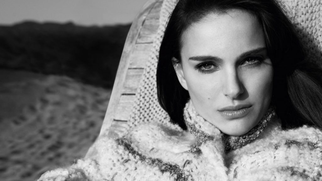 monochrome natalie portman wallpapers