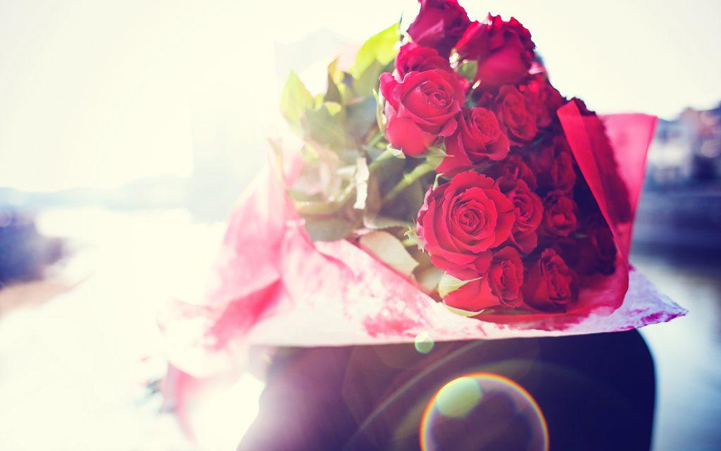 rose flower bouquet widescreen wallpapers