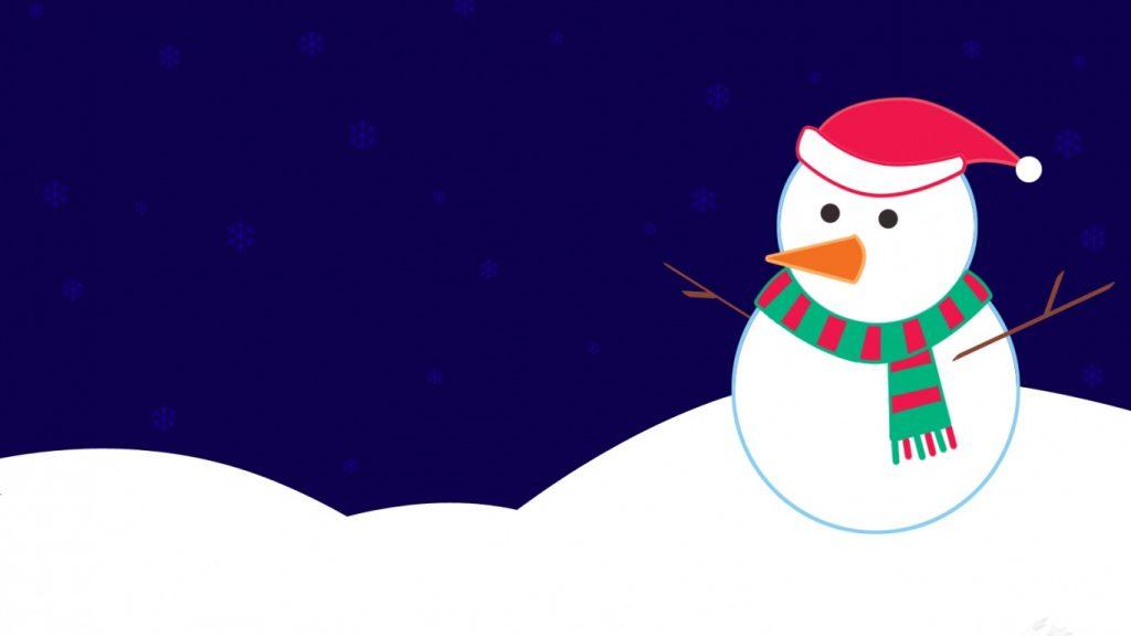 snowman digital art wallpapers