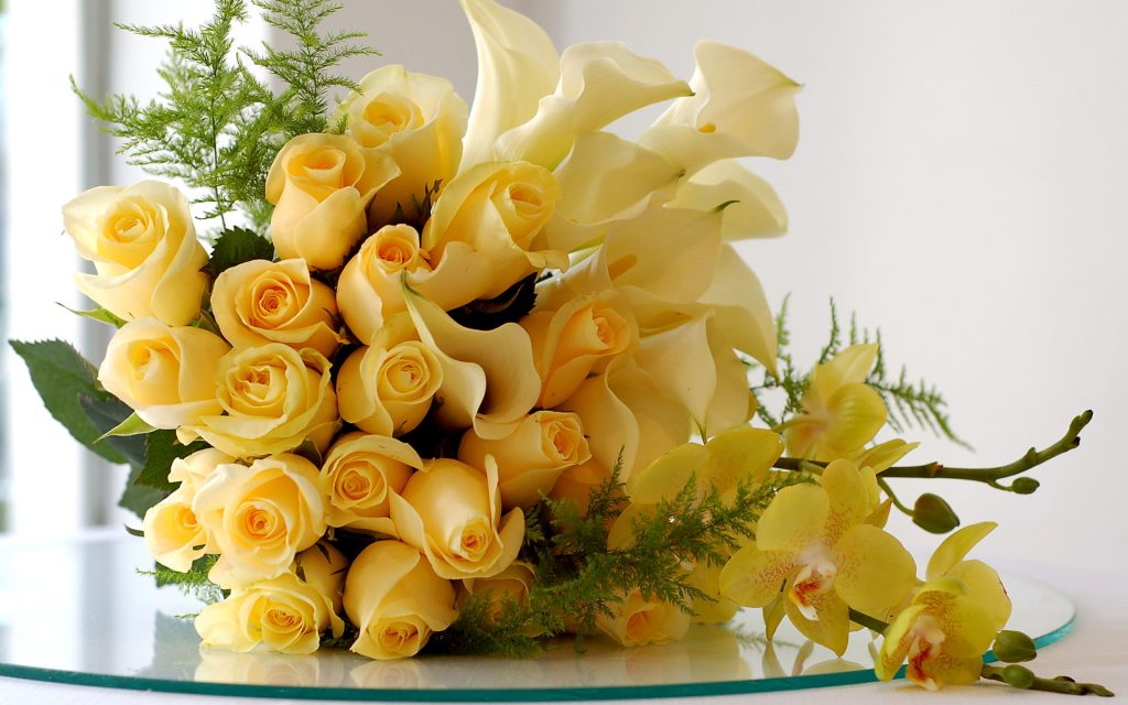 yellow flower bouquet wallpapers