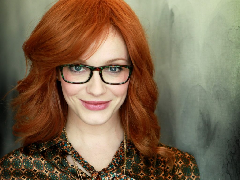 christina hendricks glasses wallpapers