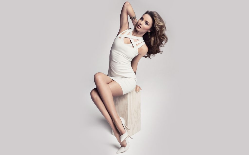 miranda kerr white dress wallpapers