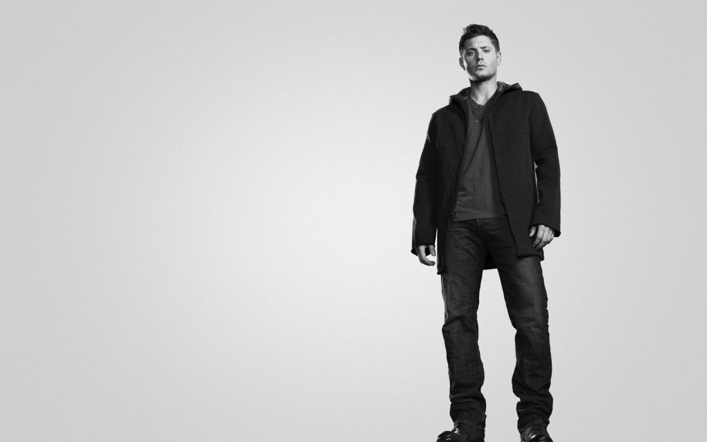 monochrome jensen ackles wallpapers
