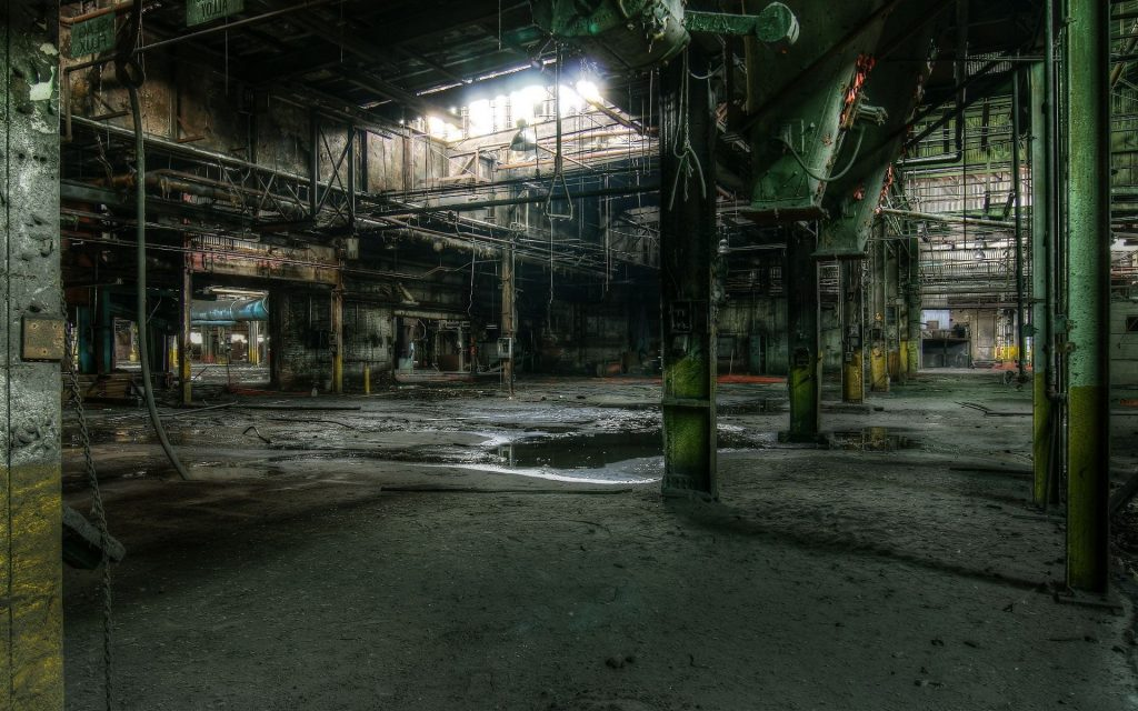 abandoned factory wallpapers