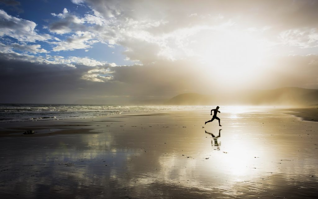 beach running man wallpapers