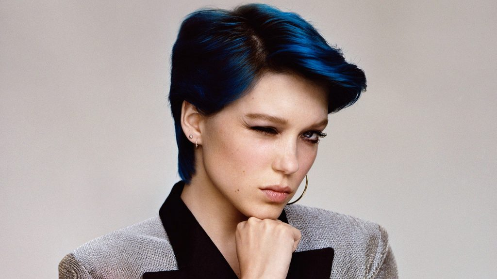 lea seydoux blue hair wallpapers