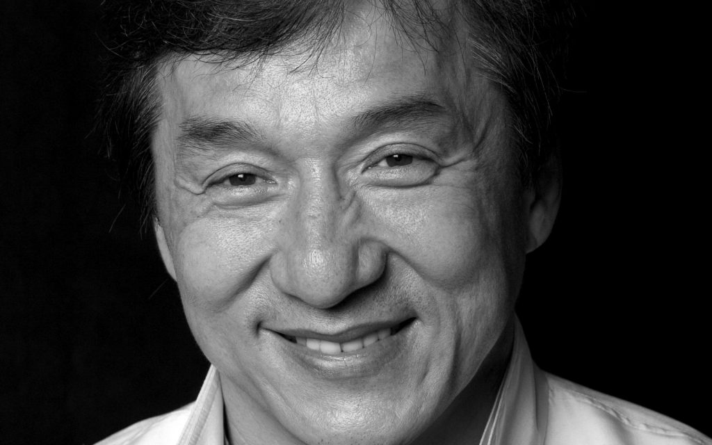 monochrome jackie chan face wallpapers