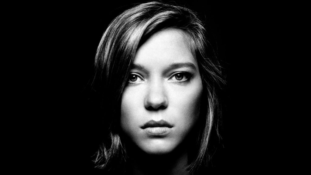 monochrome lea seydoux face wallpapers