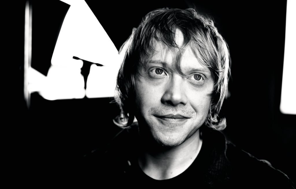 monochrome rupert grint wallpapers