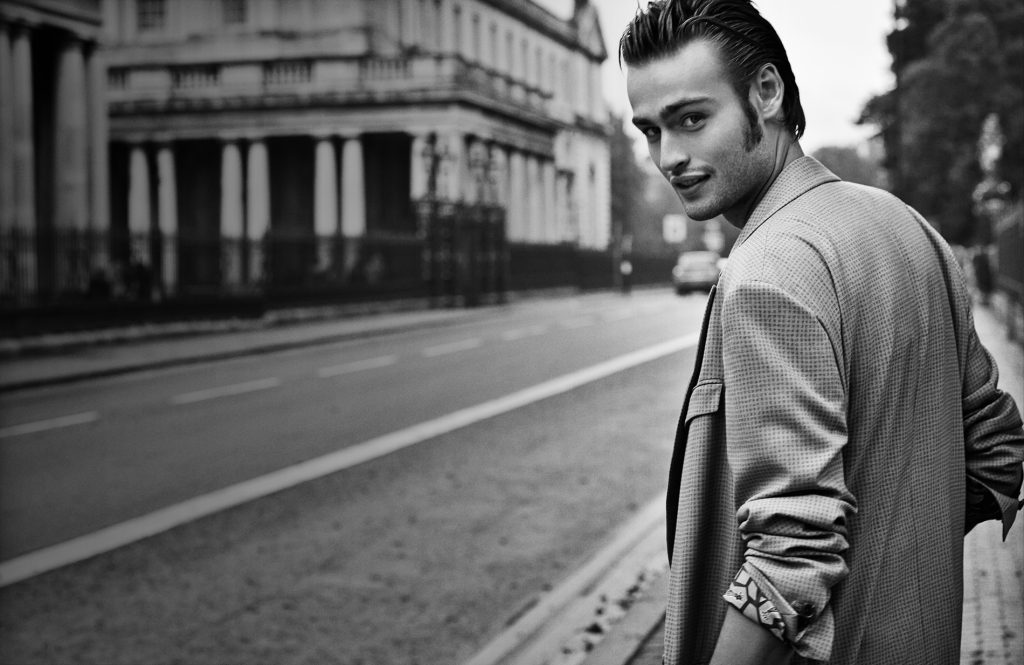 monochrome douglas booth wallpapers