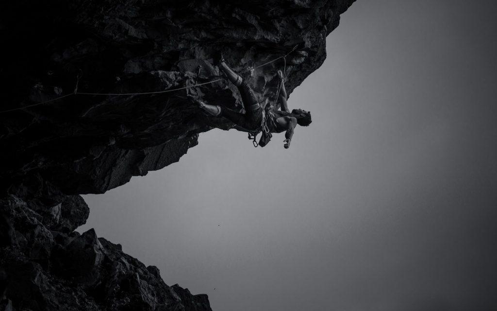 monochrome rock climbing wallpapers