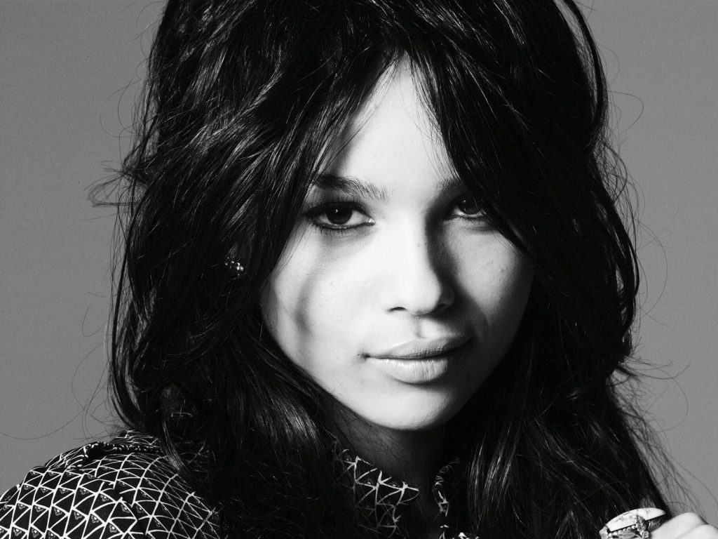 monochrome zoe kravitz computer wallpapers