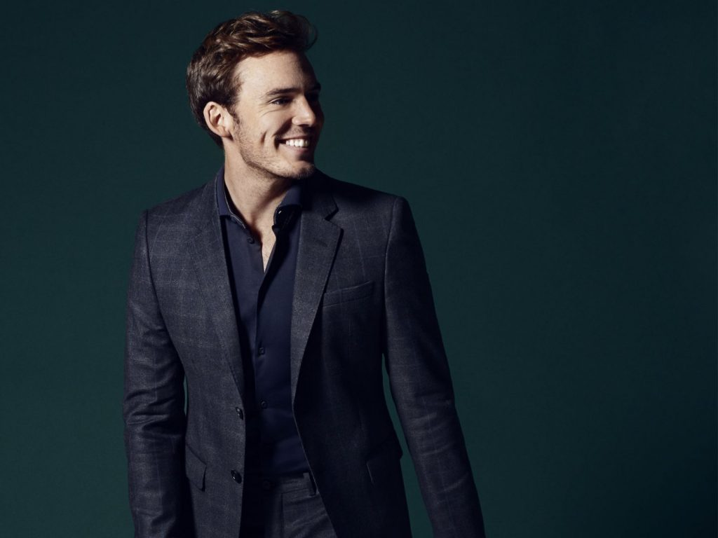 sam claflin smile wallpapers