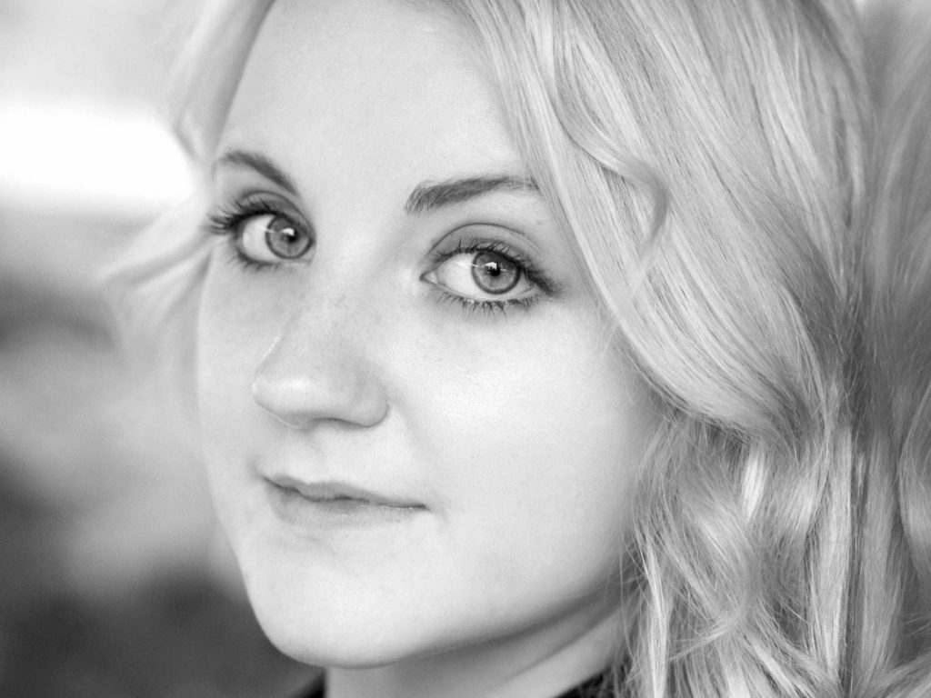 monochrome evanna lynch face wallpapers