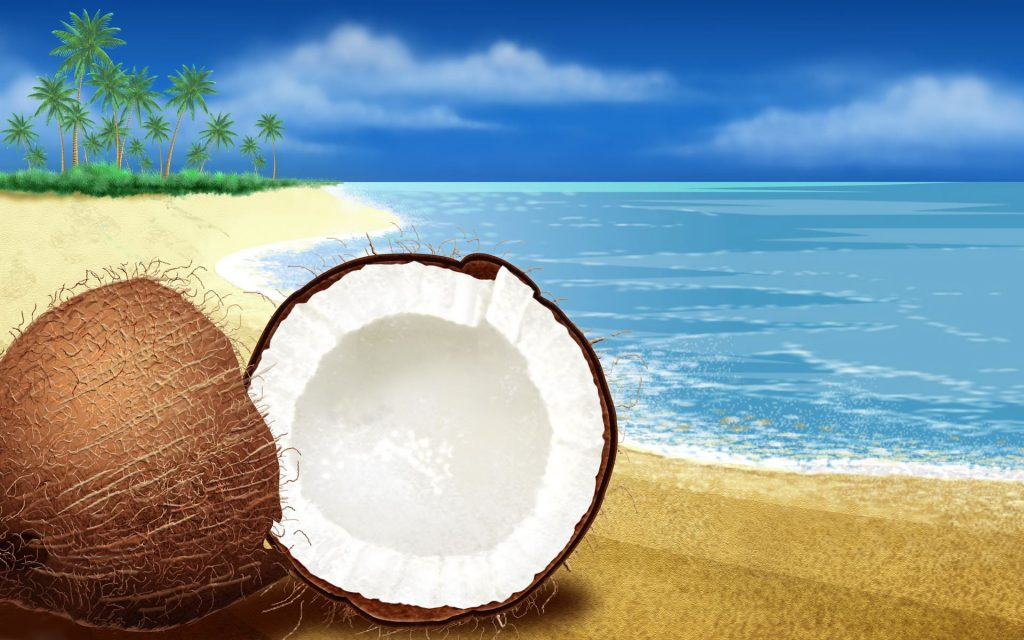 coconut beach art wallpapers