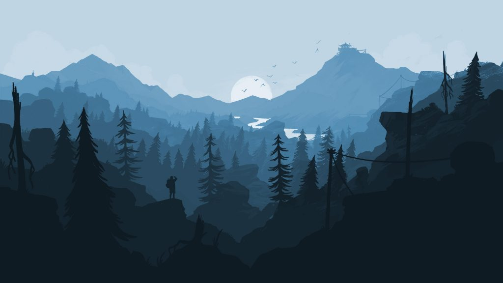 firewatch landscape background wallpapers