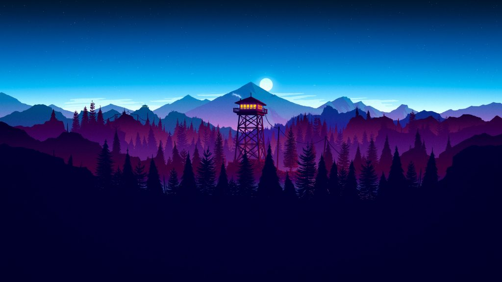 firewatch night widescreen wallpapers
