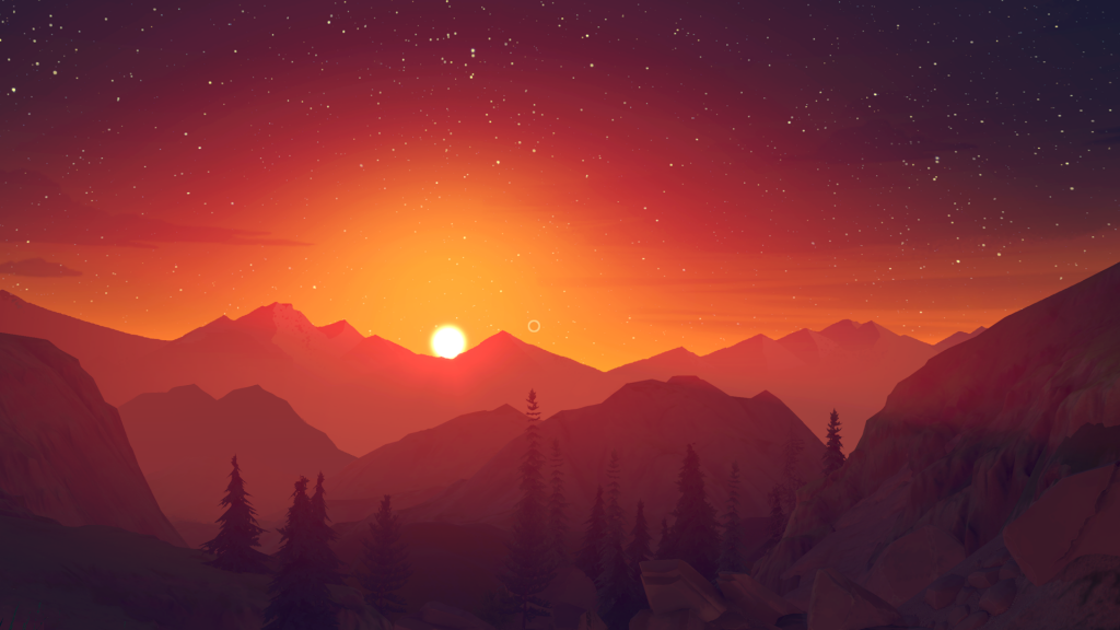 firewatch sunset wallpapers