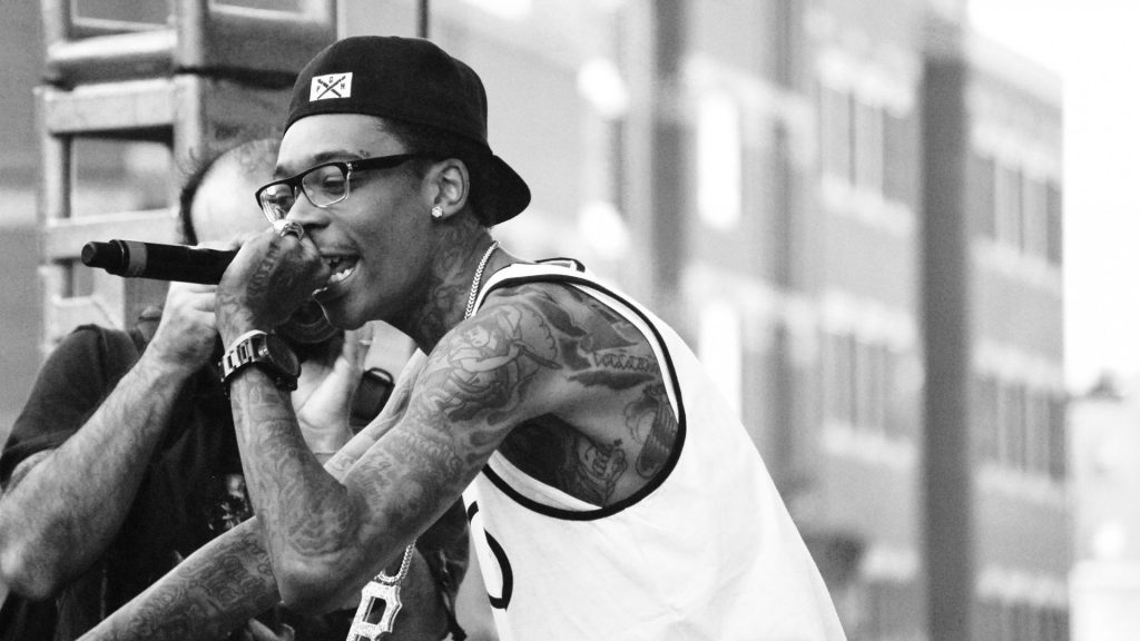 monochrome wiz khalifa performing wallpapers