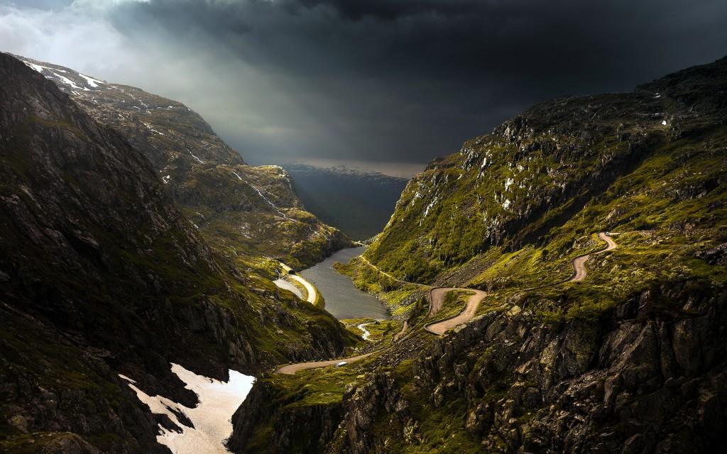 awesome mountain road wallpapers