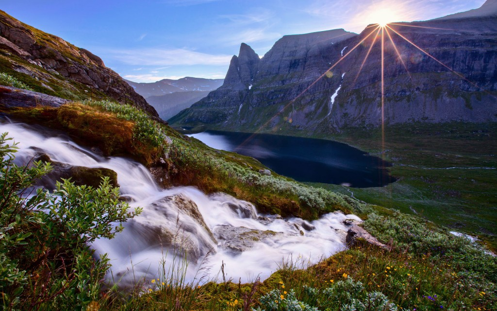 lovely mountain stream wallpapers